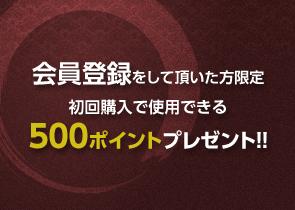 初回購入で使用できる500ポイントプレゼント!