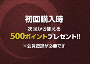 次回から使える500ポイントプレゼント!