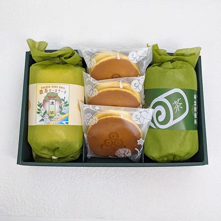 スイーツセットⅣ (濃茶ロール・茶游堂抹茶ロール・抹茶生どら焼き)