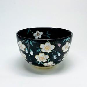 黒釉桜 【抹茶椀・清水焼】