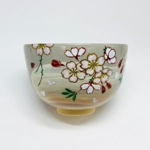 刷毛目桜 【抹茶椀・清水焼】
