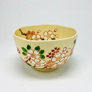 三色桜 【抹茶椀・清水焼】