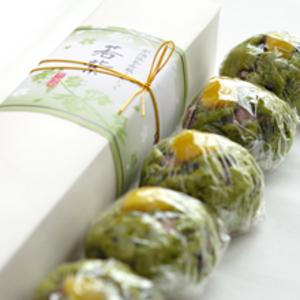 宇治抹茶赤飯まんじゅう【若紫】