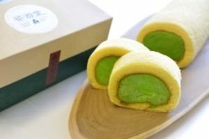 濃茶ロールケーキ【ロングサイズ】